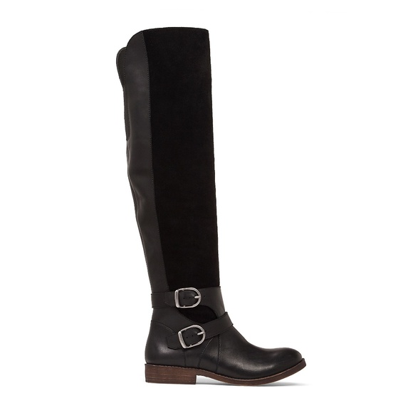 1ce51d82323 New LUCKY BRAND Black Zosha Over The Knee Boot NWT